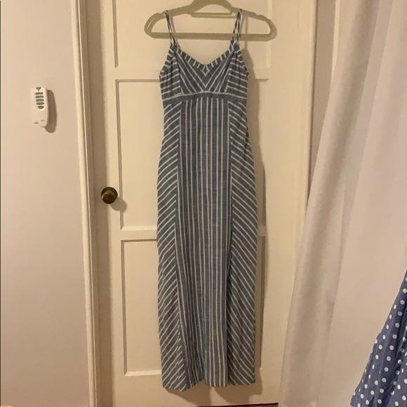 92fa682b6e Athleta Dresses | Blue And White Striped Maxi Dress | Poshmark